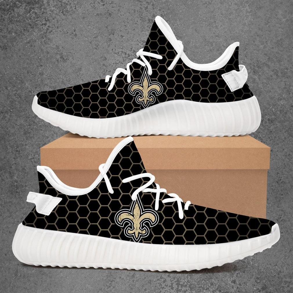 New Orleans Saints Nfl Football Yeezy Sneakers Shoes