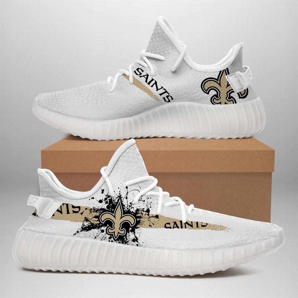 New Orleans Saints Nfl Sport Teams Runing Yeezy Sneakers Shoes