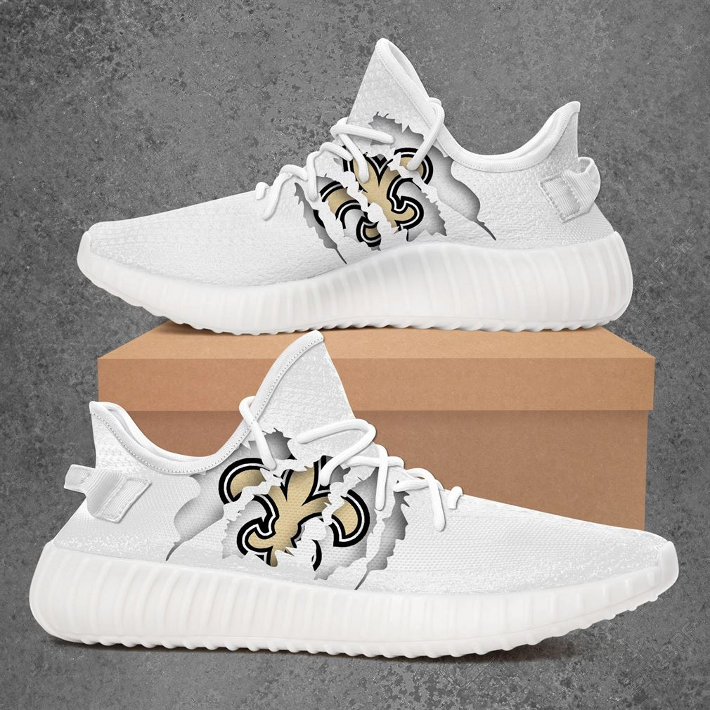 New Orleans Saints Nfl Sport Teams Yeezy Sneakers Shoes White