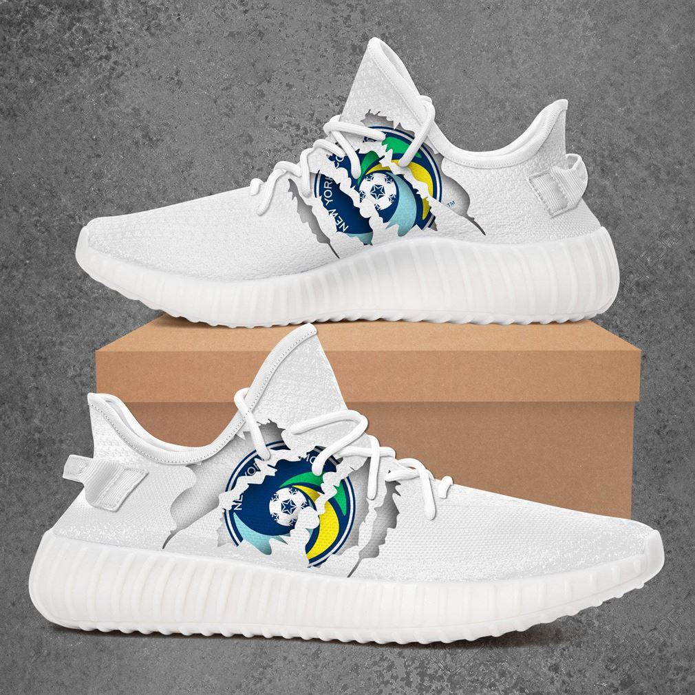 New York Cosmos Nasl Sport Teams Yeezy Sneakers Shoes White