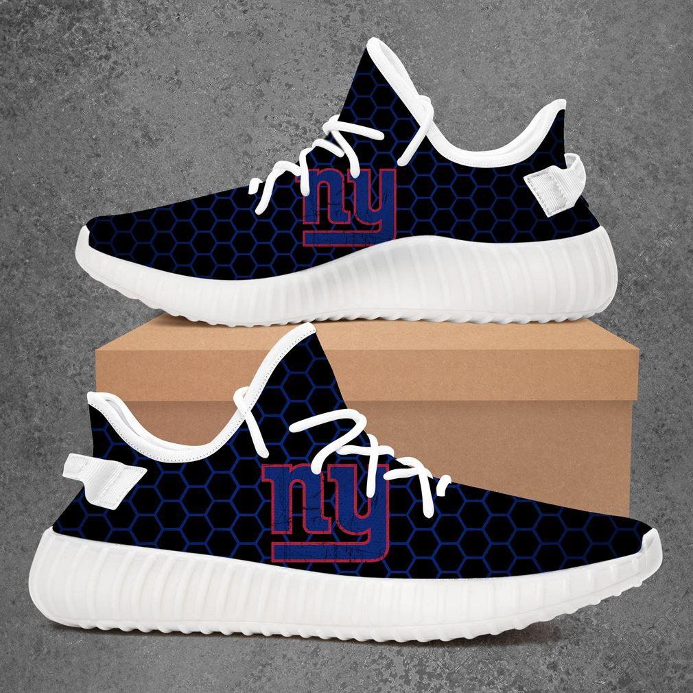 New York Giants Nfl Football Yeezy Sneakers Shoes