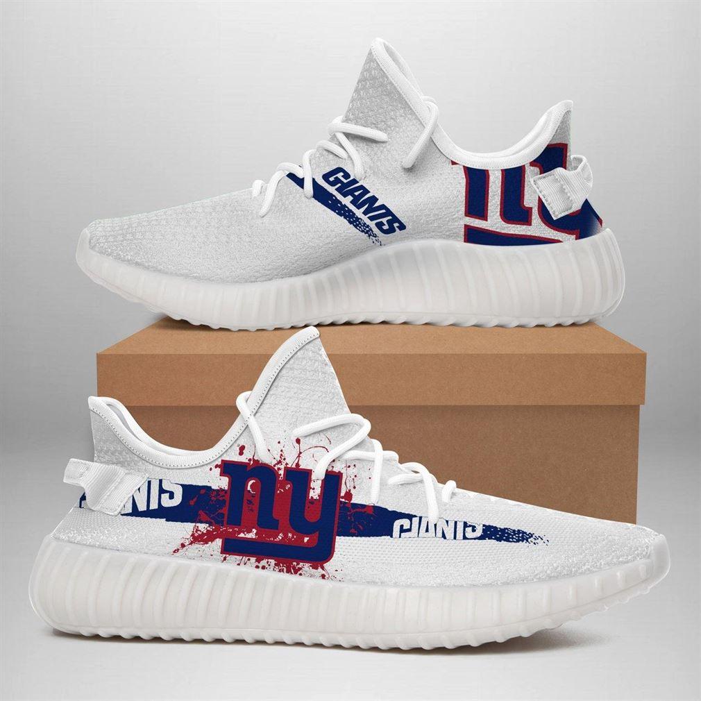 New York Giants Nfl Sport Teams Runing Yeezy Sneakers Shoes