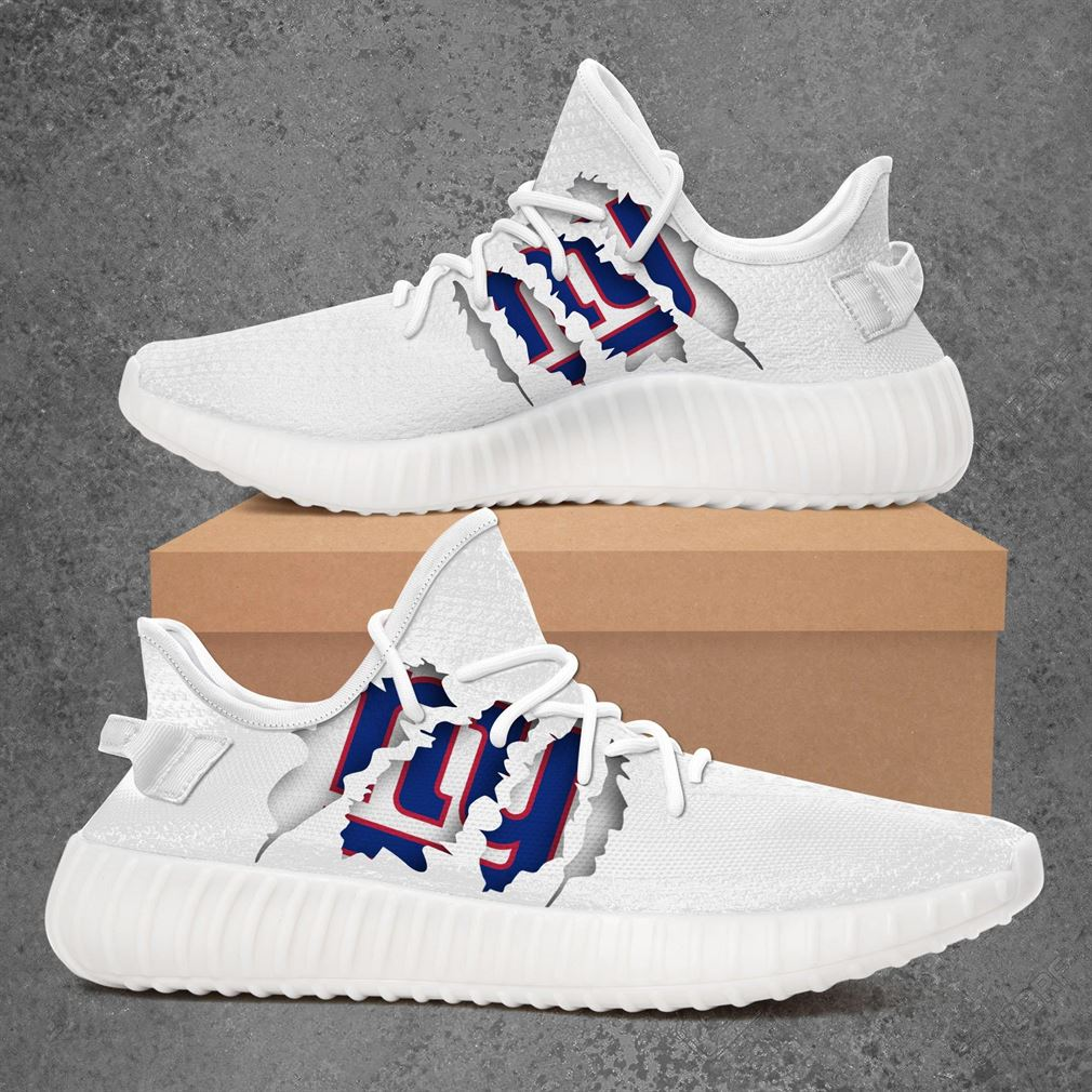 New York Giants Nfl Sport Teams Yeezy Sneakers Shoes White