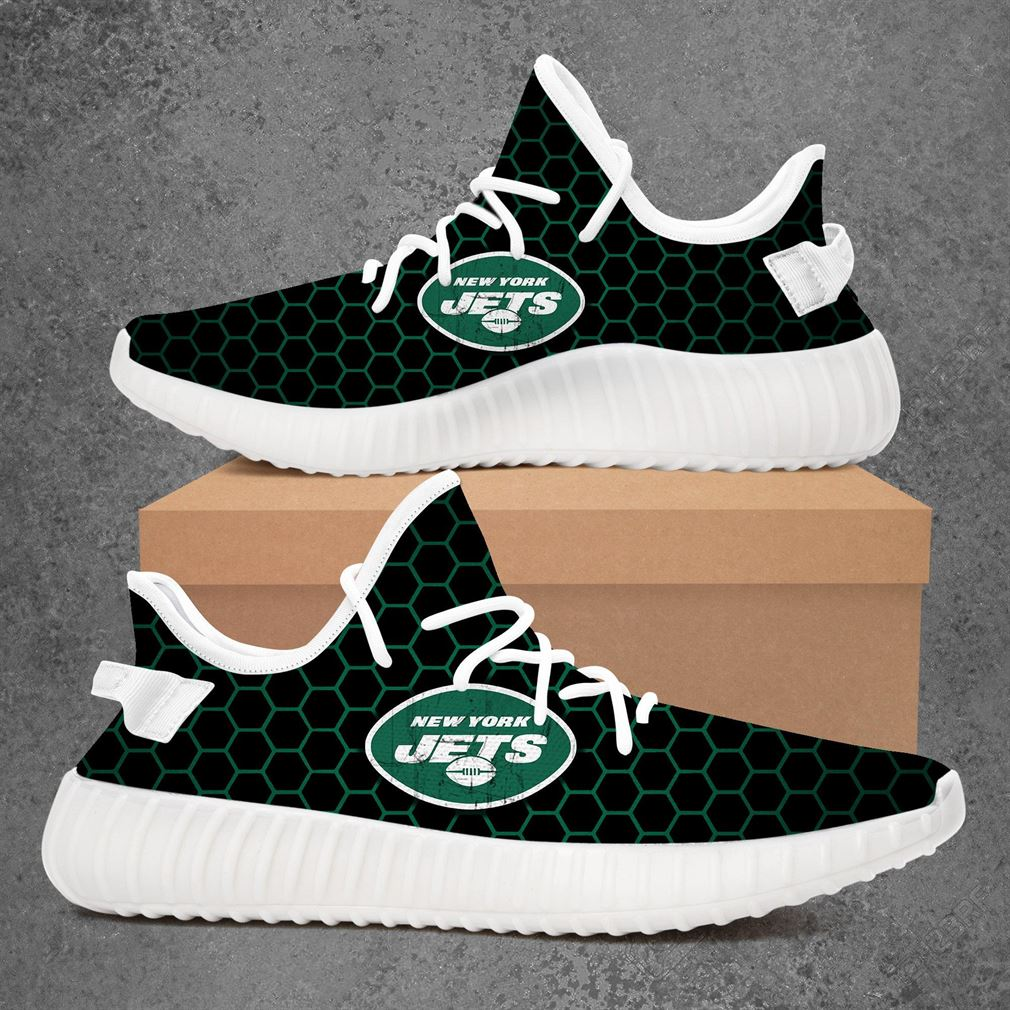 New York Jets Nfl Football Yeezy Sneakers Shoes