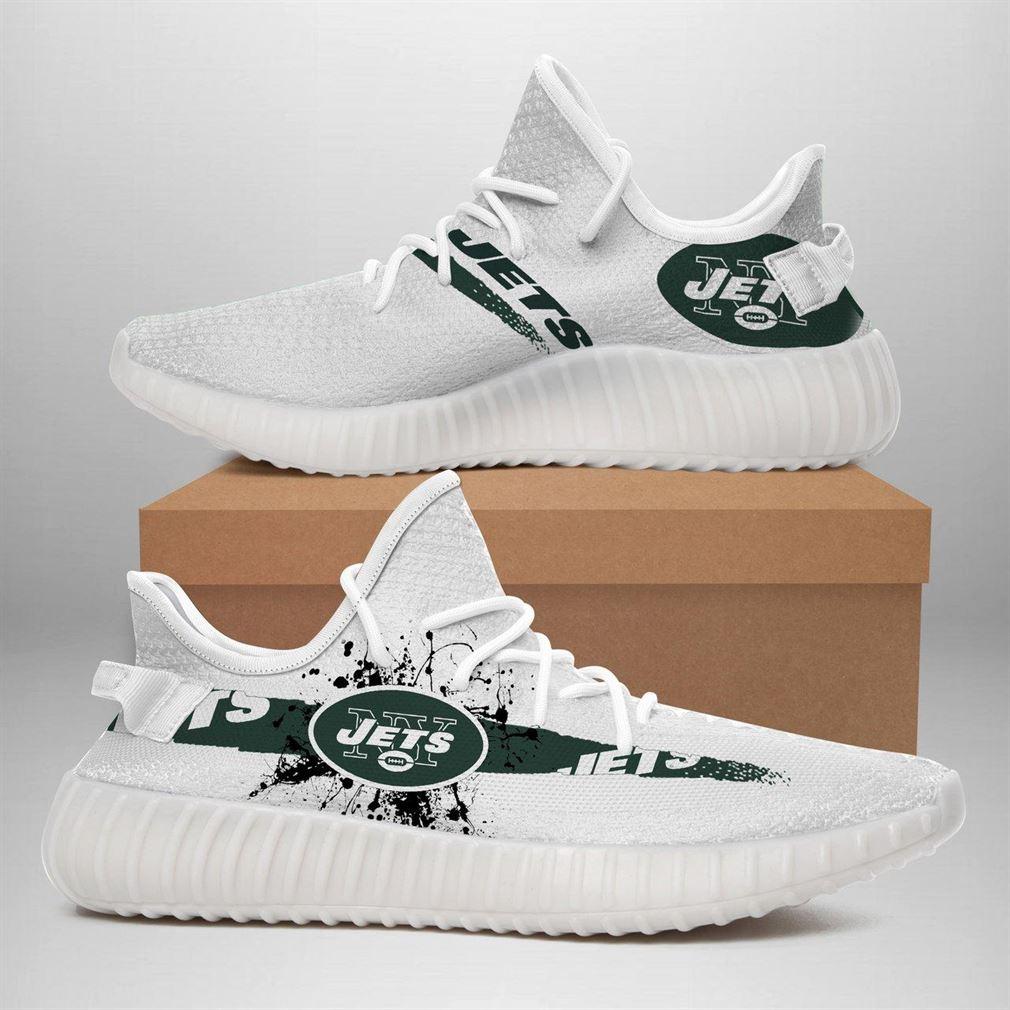 New York Jets Nfl Sport Teams Runing Yeezy Sneakers Shoes
