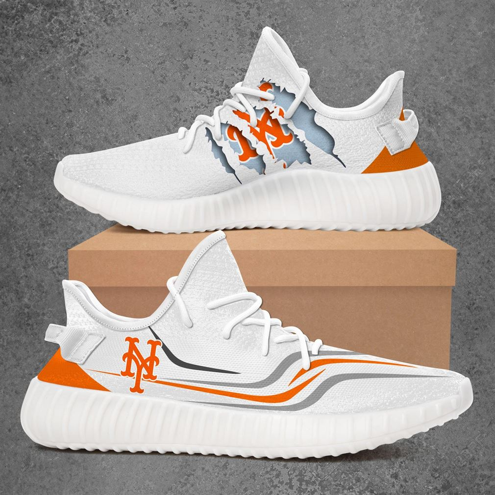 New York Mets Mlb Sport Teams Yeezy Sneakers Shoes White