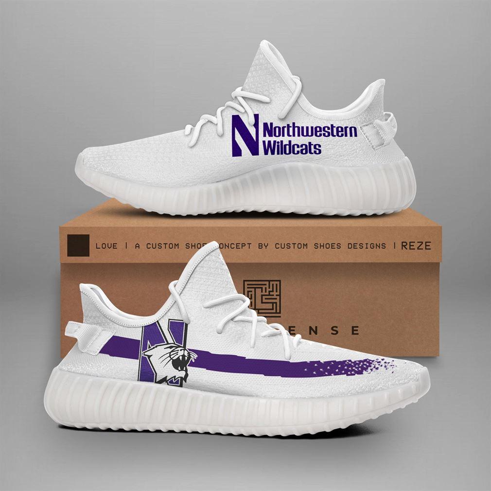 Northwestern University Wildcat Ncaa Runing Yeezy Sneakers Shoes
