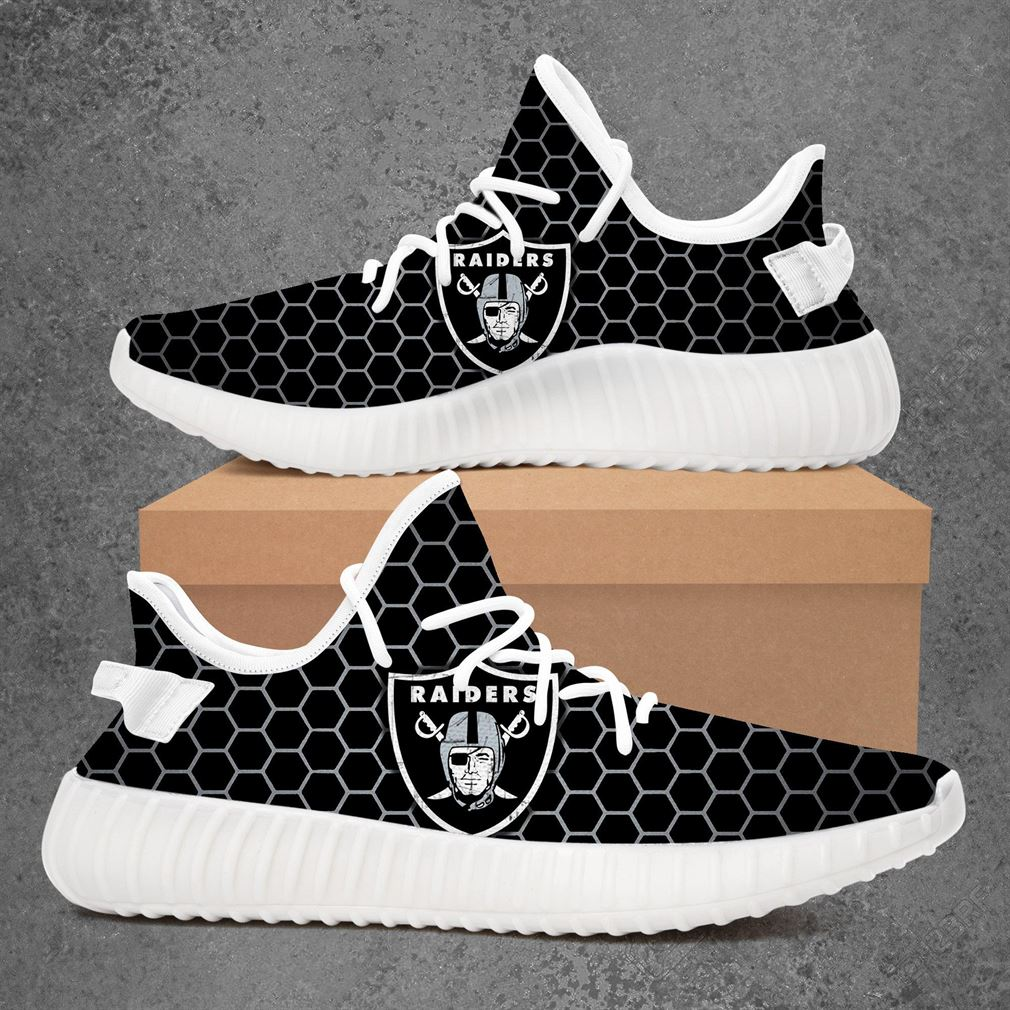 Oakland Raiders Nfl Football Yeezy Sneakers Shoes