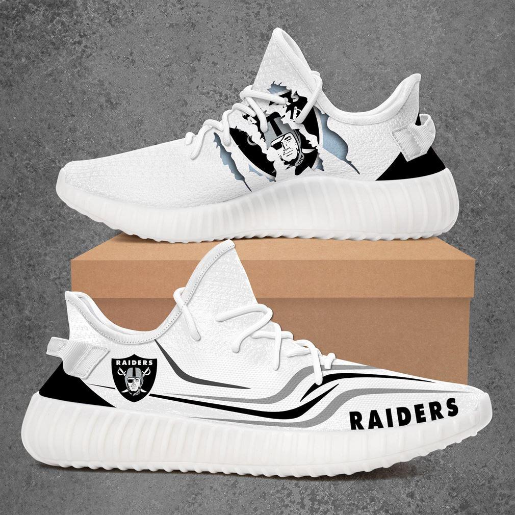 Oakland Raiders Nfl Sport Teams Yeezy Sneakers Shoes