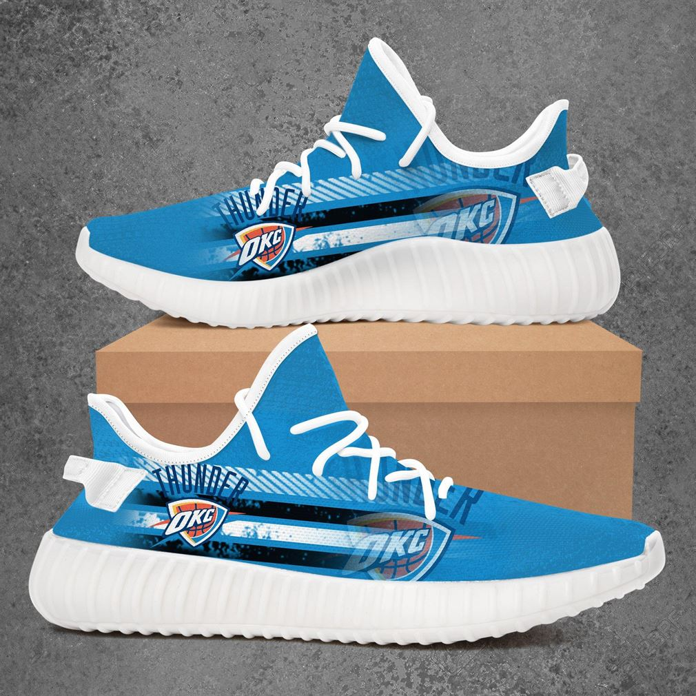 Oklahoma City Thunder Nba Basketball Yeezy Sneakers Shoes