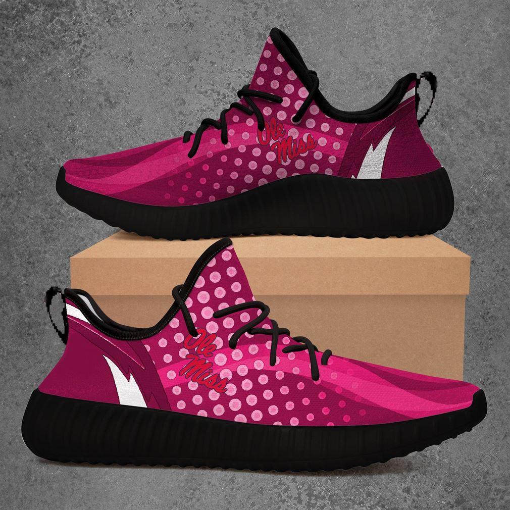 Ole Miss Rebels Ncaa Sport Teams Yeezy Sneakers Shoes