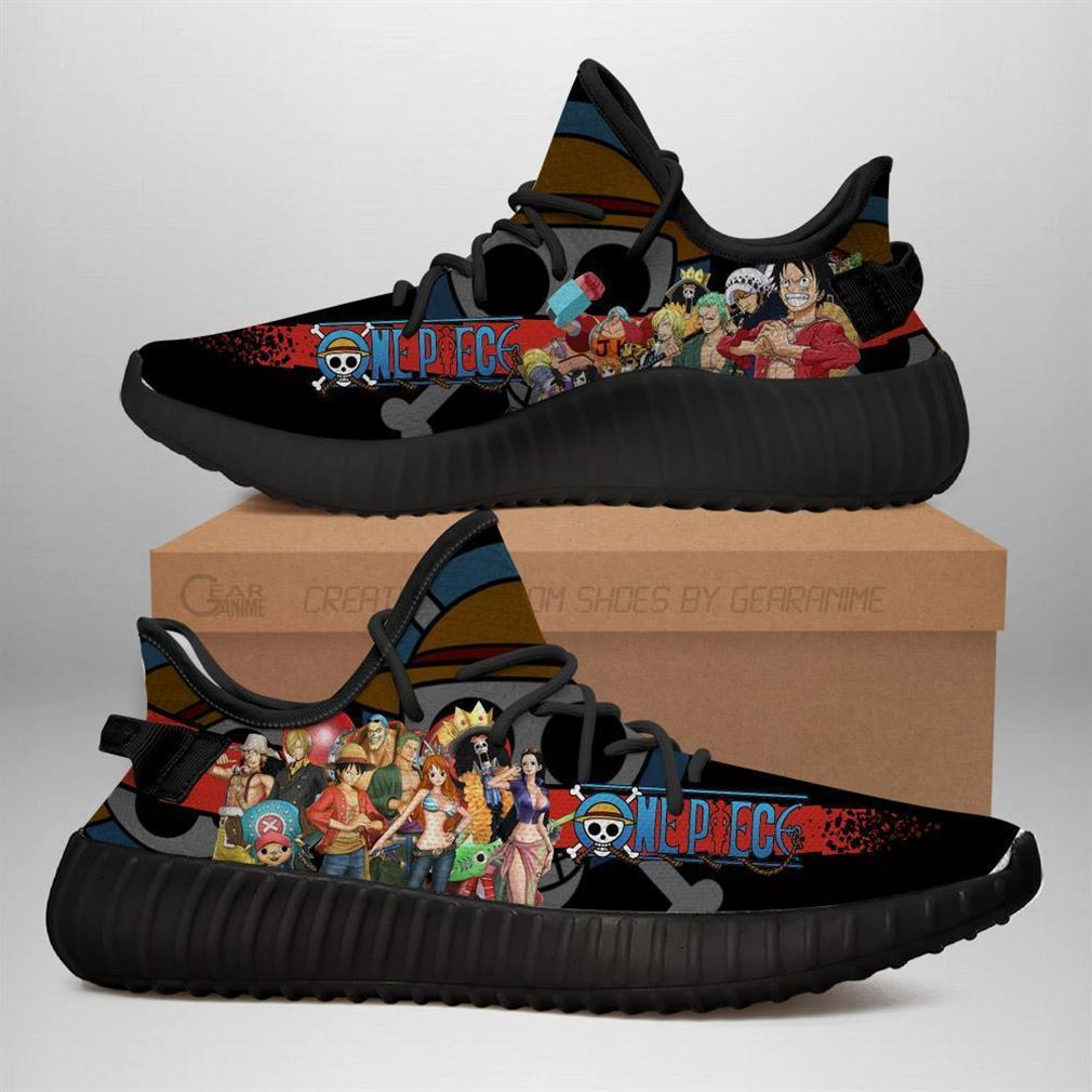 One Piece Yz Sneakers Anime Shoes Yeezy Sneakers Shoes Black