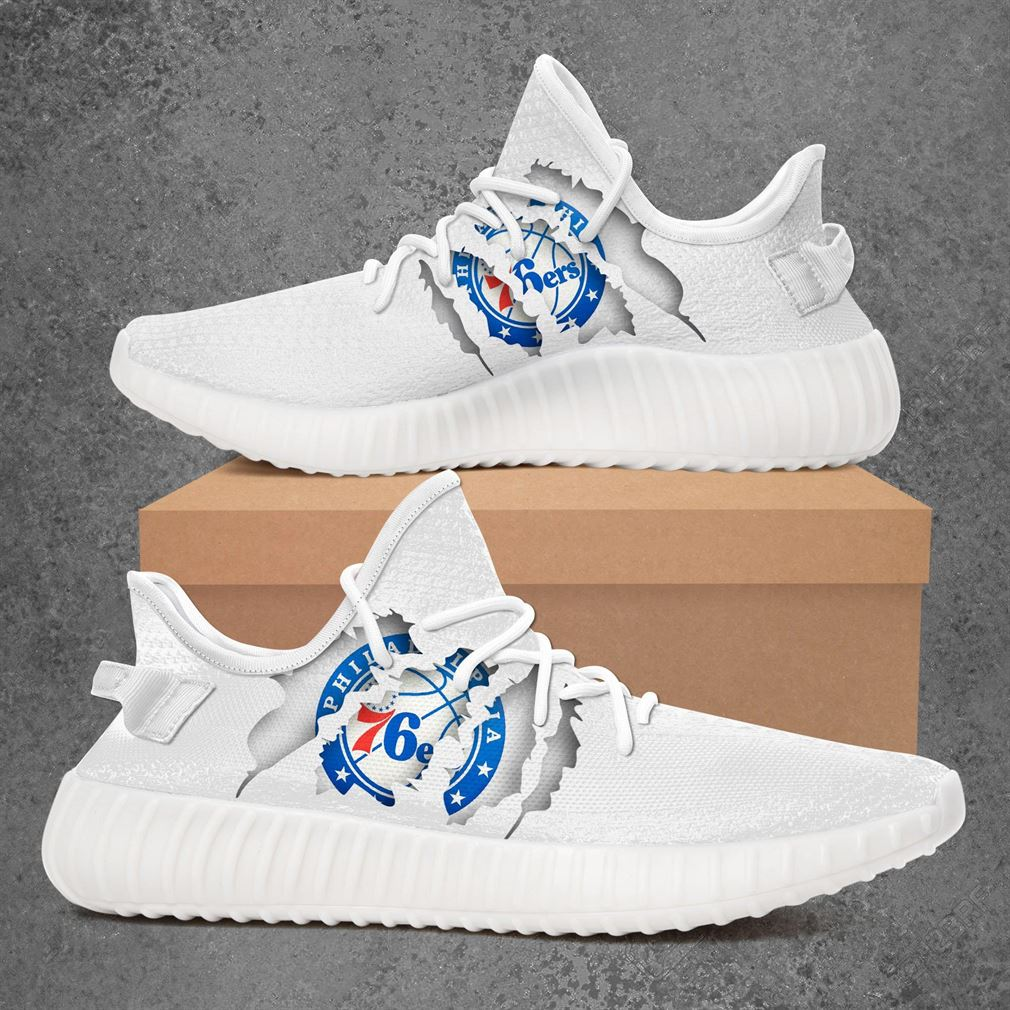 Philadelphia 76ers Nba Sport Teams Yeezy Sneakers Shoes