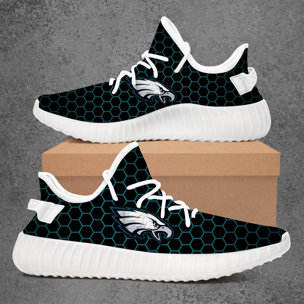 Philadelphia Eagles Nfl Football Yeezy Sneakers Shoes