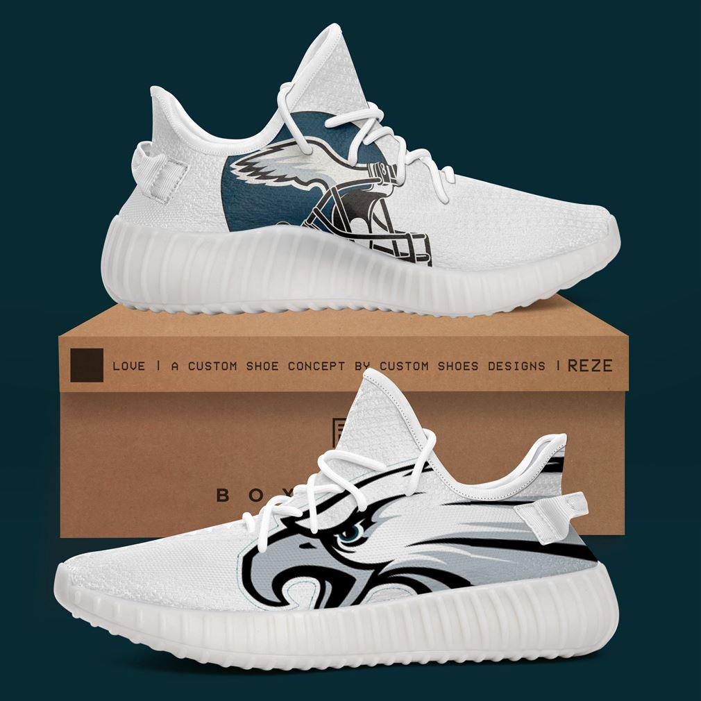 Philadelphia Eagles Nfl Teams Yeezy Sneakers Shoes