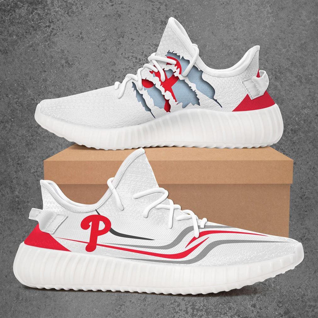 Philadelphia Phillies Mlb Sport Teams Yeezy Sneakers Shoes White