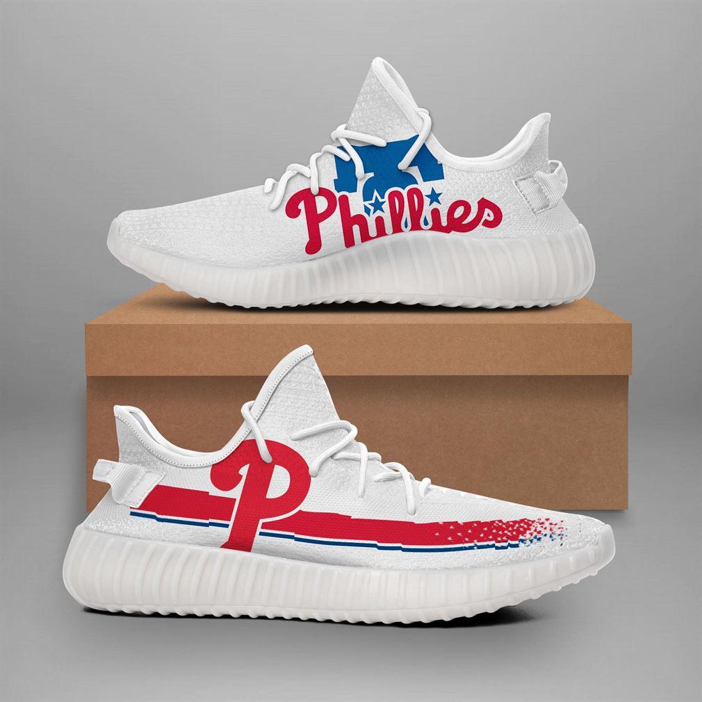 Philadelphia Phillies Mlb Teams Runing Yeezy Sneakers Shoes