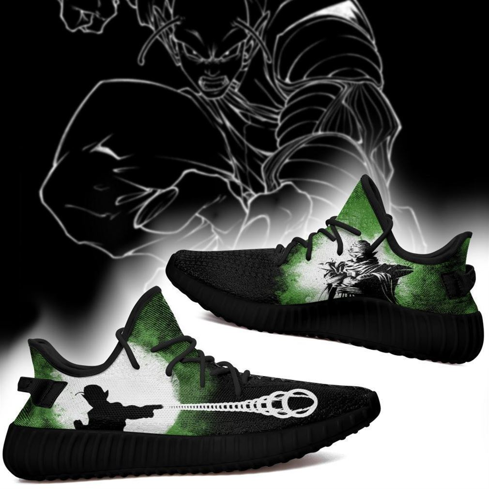 Piccolo Silhouette Yz Sneakers Skill Custom Dragon Ball Z Shoes Anime Yeezy Sneakers Shoes Black