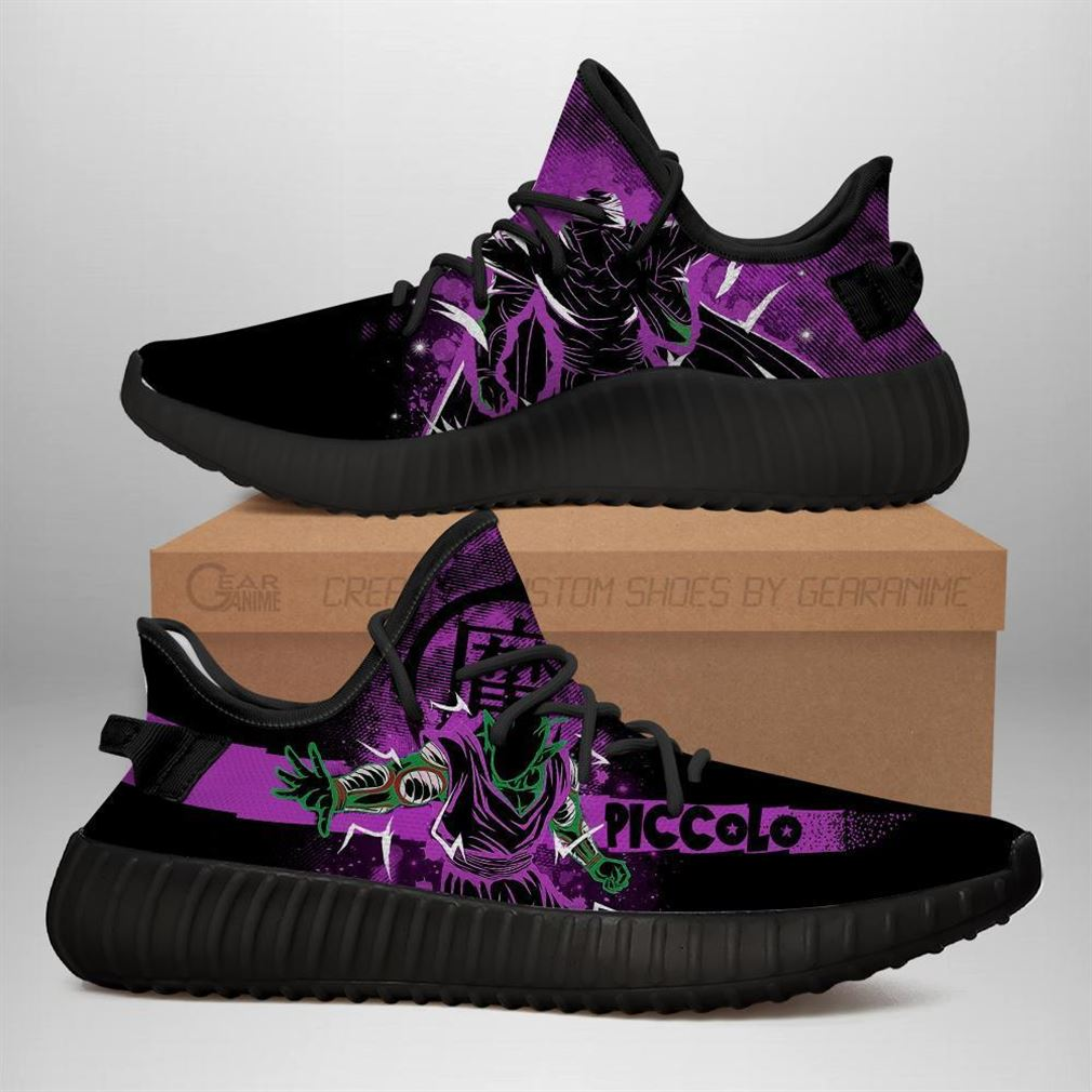 Piccolo Yz Sneakers Silhouette Dragon Ball Z Anime Shoes Yeezy Sneakers Shoes Black