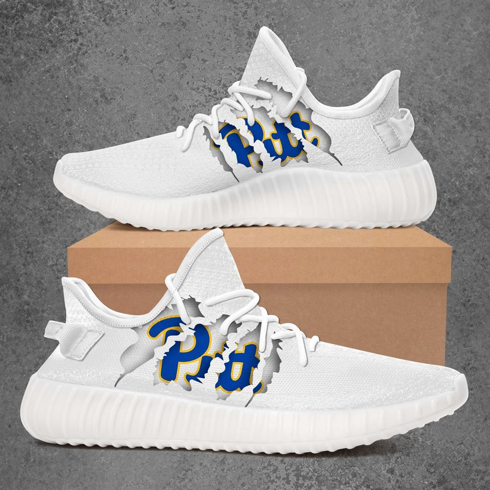 Pittsburgh Panthers Ncaa Sport Teams Yeezy Sneakers Shoes White