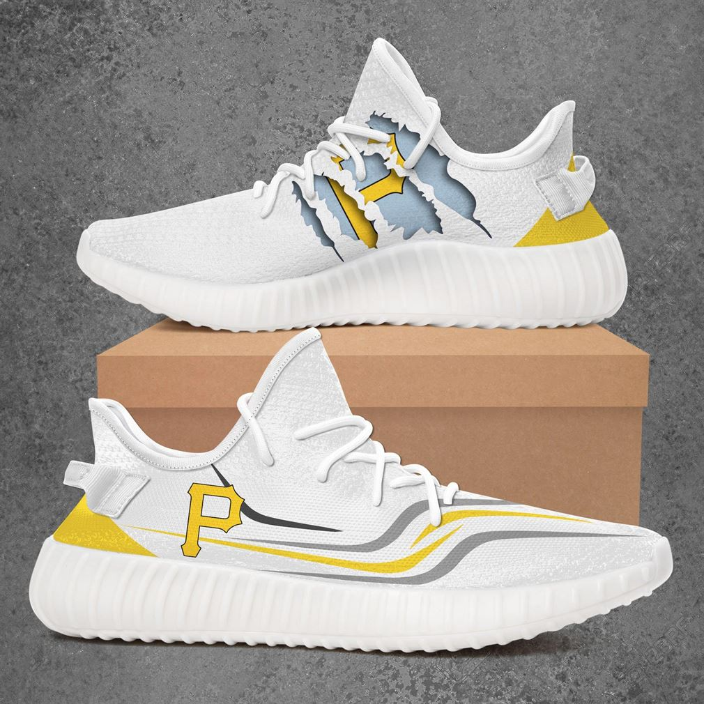 Pittsburgh Pirates Mlb Sport Teams Yeezy Sneakers Shoes White