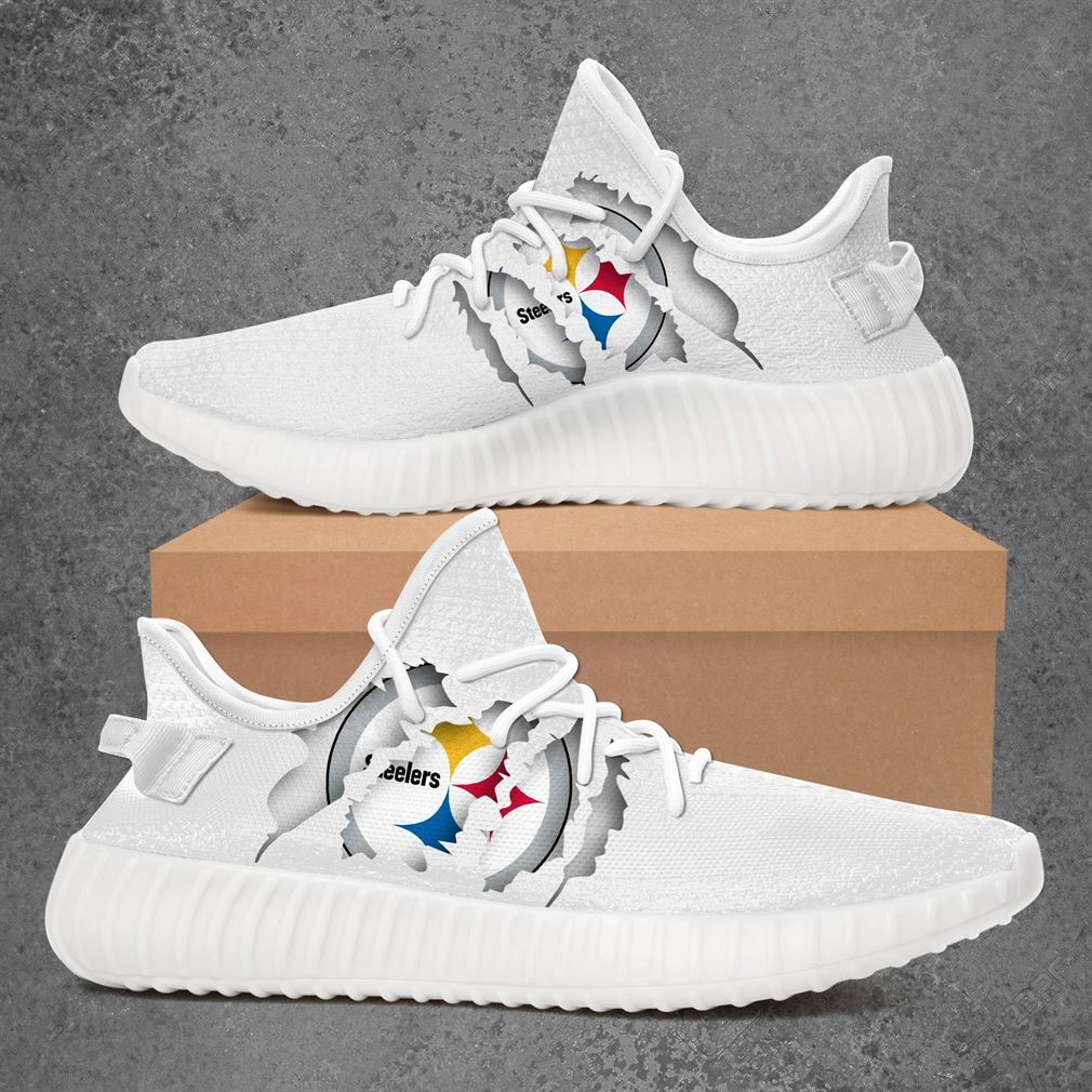 Pittsburgh Steelers Nfl Sport Teams Yeezy Sneakers Shoes White