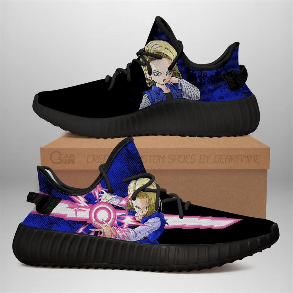 Power Skill Android 18 Yz Sneakers Dragon Ball Z Shoes Anime Yeezy Sneakers Shoes Black
