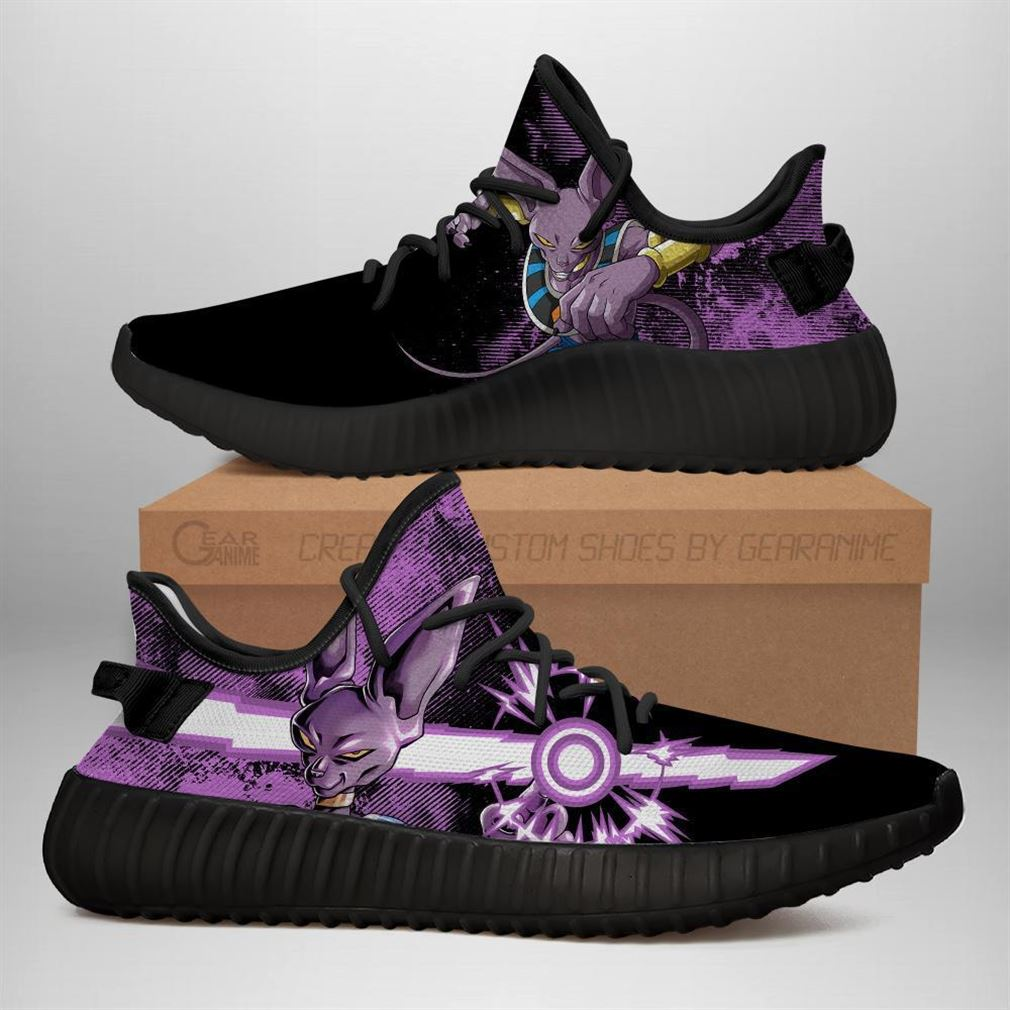 Power Skill Beerus Yz Sneakers Dragon Ball Z Shoes Anime Yeezy Sneakers Shoes Black