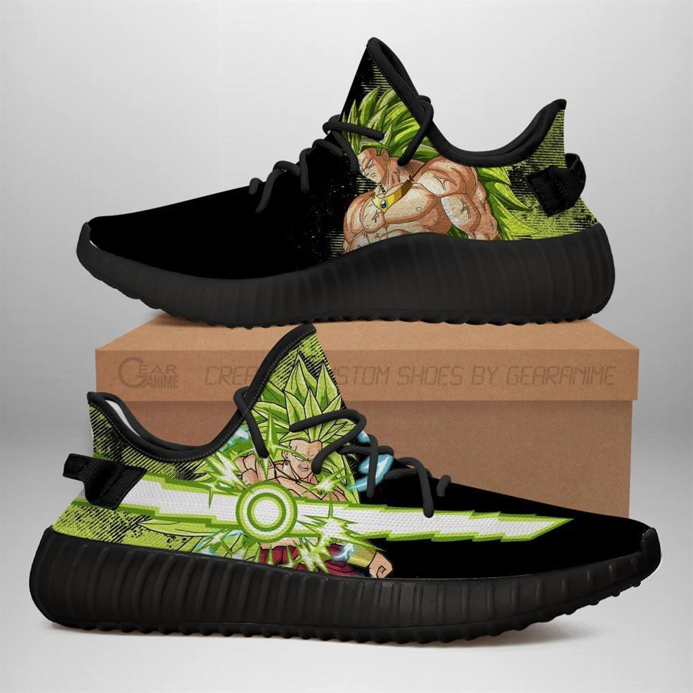 Power Skill Broly Yz Sneakers Dragon Ball Z Shoes Anime Yeezy Sneakers Shoes Black