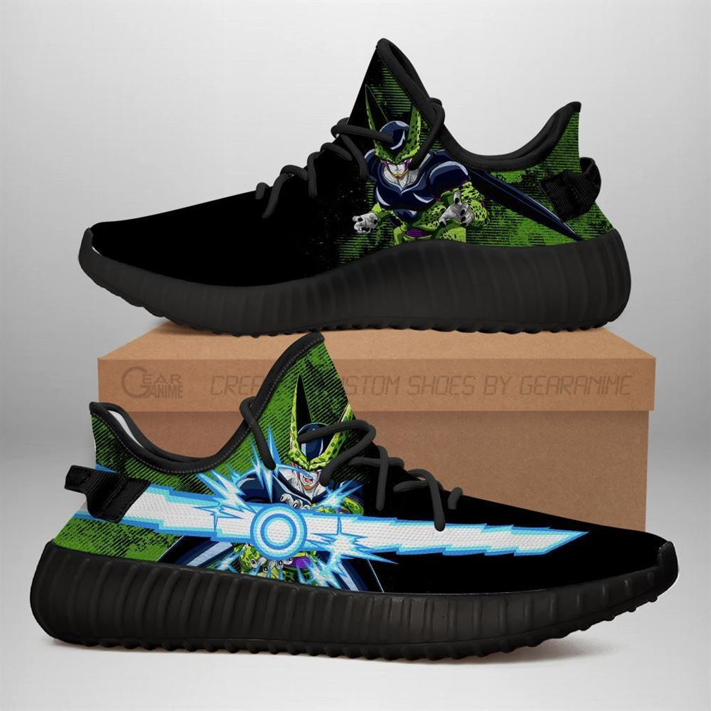 Power Skill Cell Yz Sneakers Dragon Ball Z Shoes Anime Yeezy Sneakers Shoes Black