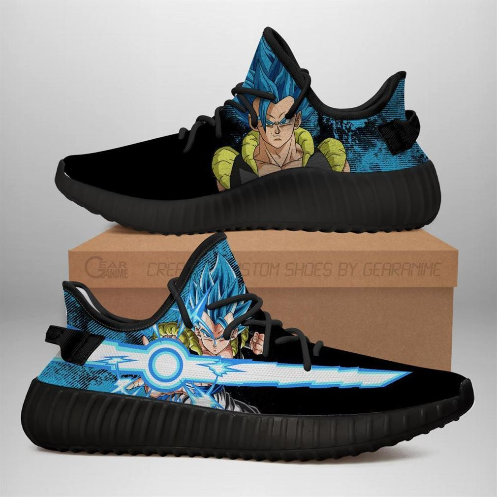 Power Skill Gogeta Yz Sneakers Dragon Ball Z Shoes Anime Yeezy Sneakers Shoes Black