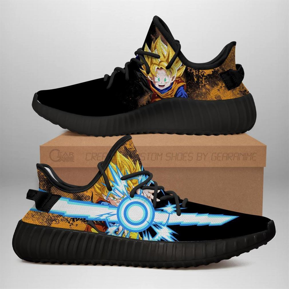 Power Skill Goten Yz Sneakers Dragon Ball Z Shoes Anime Yeezy Sneakers Shoes Black