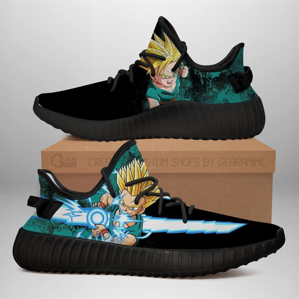 Power Skill Kid Trunks Yz Sneakers Dragon Ball Z Shoes Anime Yeezy Sneakers Shoes Black