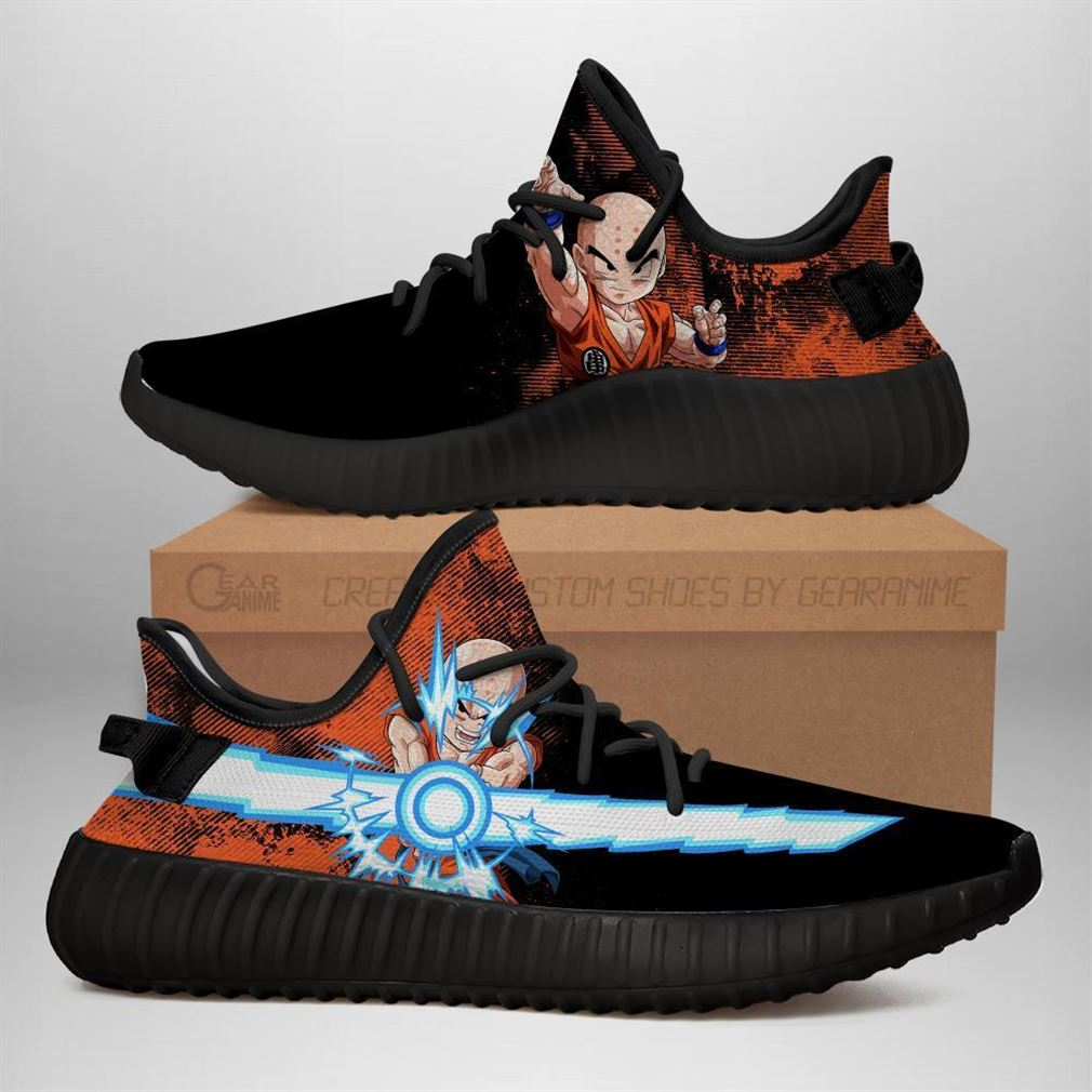 Power Skill Krillin Yz Sneakers Dragon Ball Z Shoes Anime Yeezy Sneakers Shoes Black
