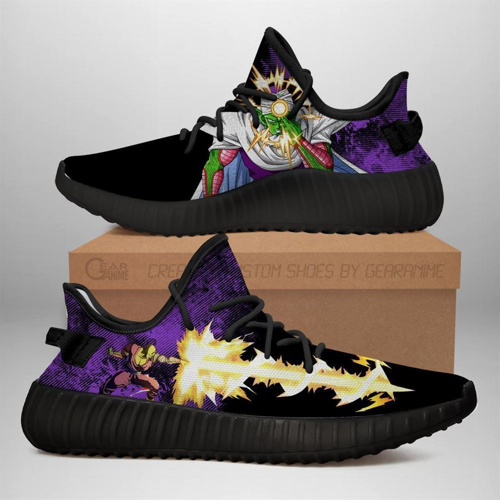 Power Skill Piccolo Yz Sneakers Dragon Ball Z Shoes Anime Shoes Yeezy Sneakers Shoes Black