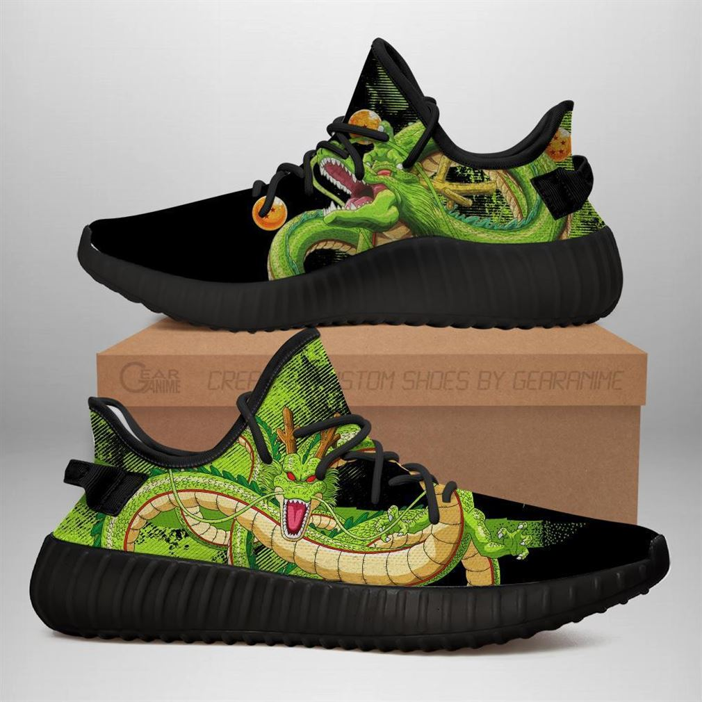 Power Skill Shenron Yz Sneakers Dragon Ball Z Shoes Anime Yeezy Sneakers Shoes Black