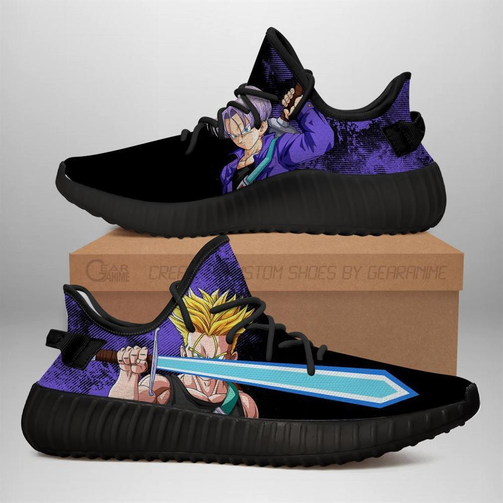 Power Skill Trunks Yz Sneakers Dragon Ball Z Shoes Anime Yeezy Sneakers Shoes Black