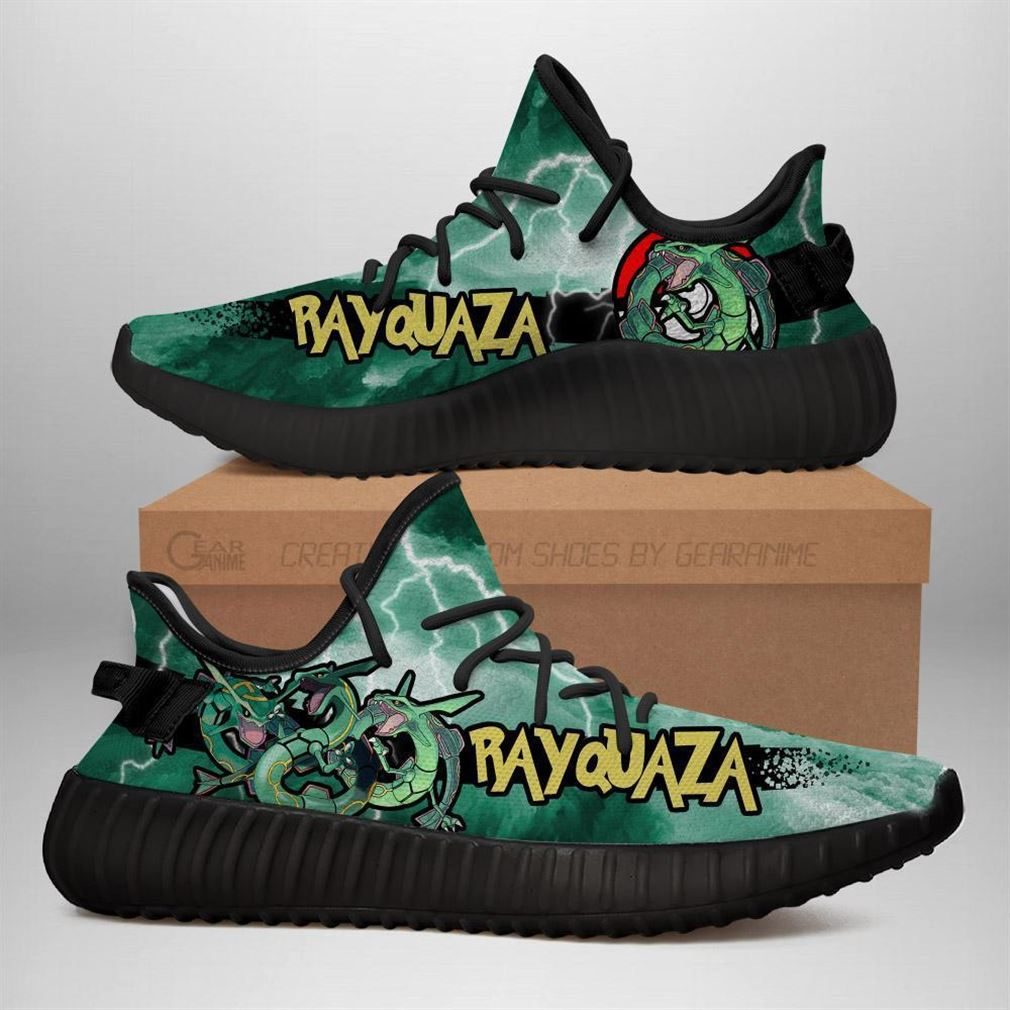Rayquaza Yz Sneakers Pokemon Shoes Anime Yeezy Sneakers Shoes Black