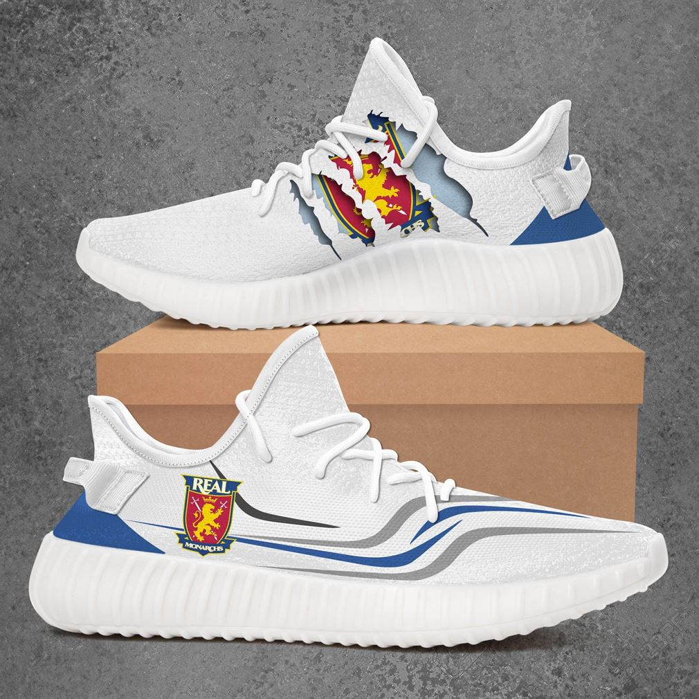 Real Monarchs Usl Championship Sport Teams Yeezy Sneakers Shoes White
