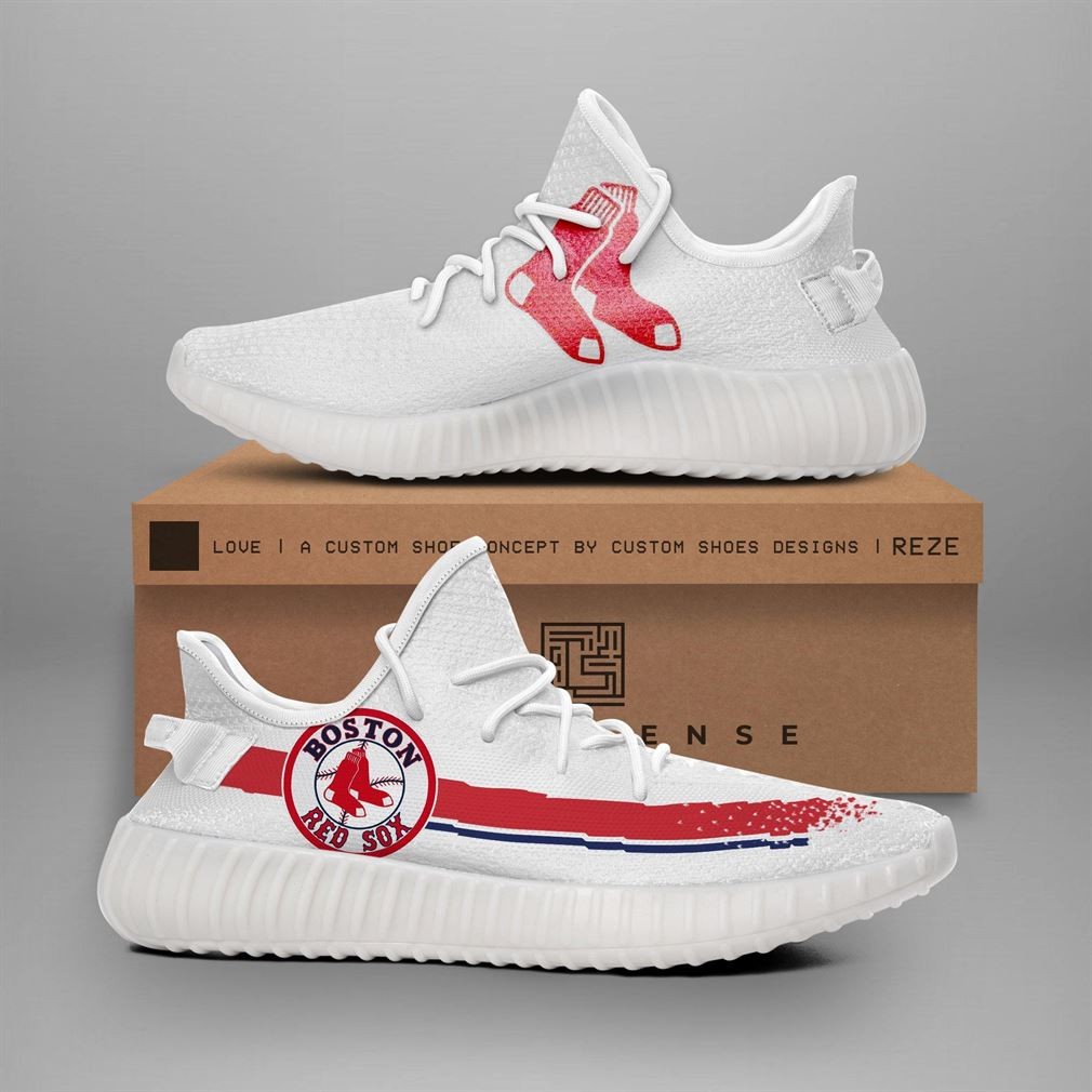 Red Sox Mlb Teams Runing Yeezy Sneakers Shoes