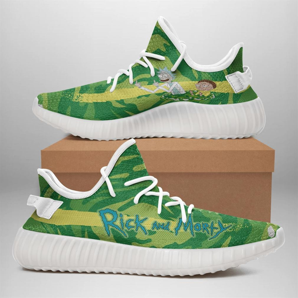 Rick And Morty Yeezy Sneakers Shoes White