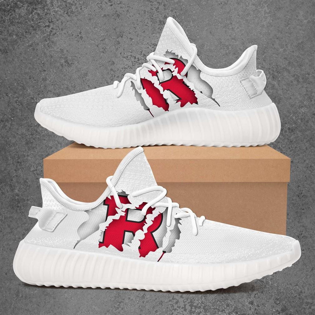 Rutgers Scarlet Knights Ncaa Sport Teams Yeezy Sneakers Shoes White