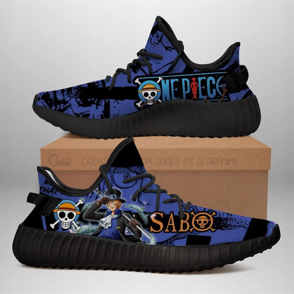 Sabo Yz Sneakers One Piece Anime Shoes Yeezy Sneakers Shoes Black