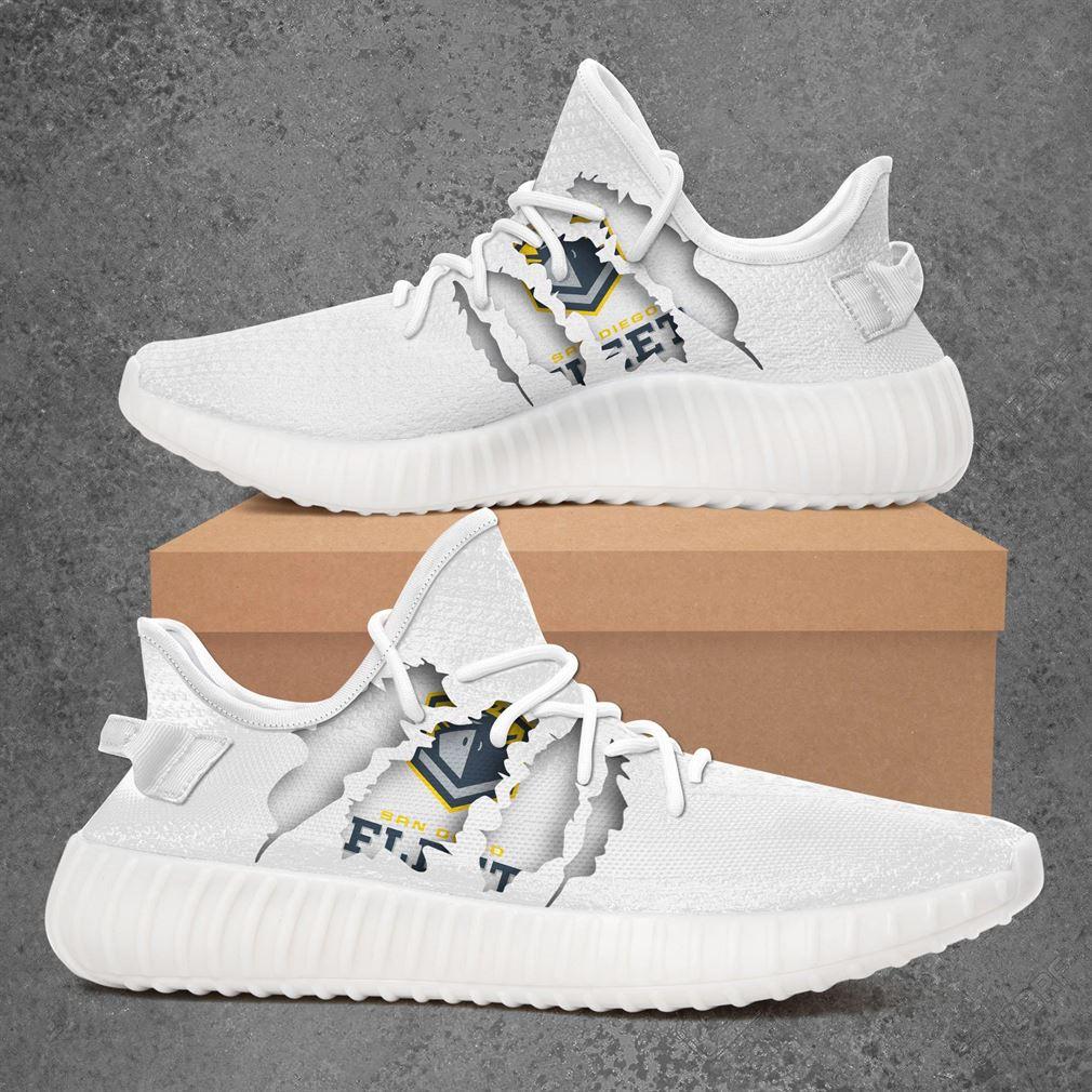 San Diego Fleet Ncaa Sport Teams Yeezy Sneakers Shoes White