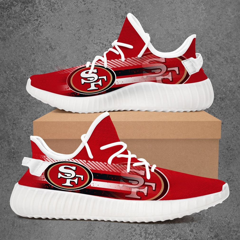 San Francisco 49ers Nfl Football Yeezy Sneakers Shoes