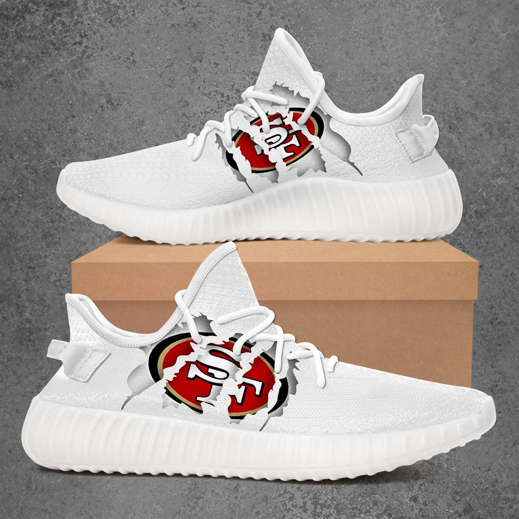 San Francisco 49ers Nfl Sport Teams Yeezy Sneakers Shoes White