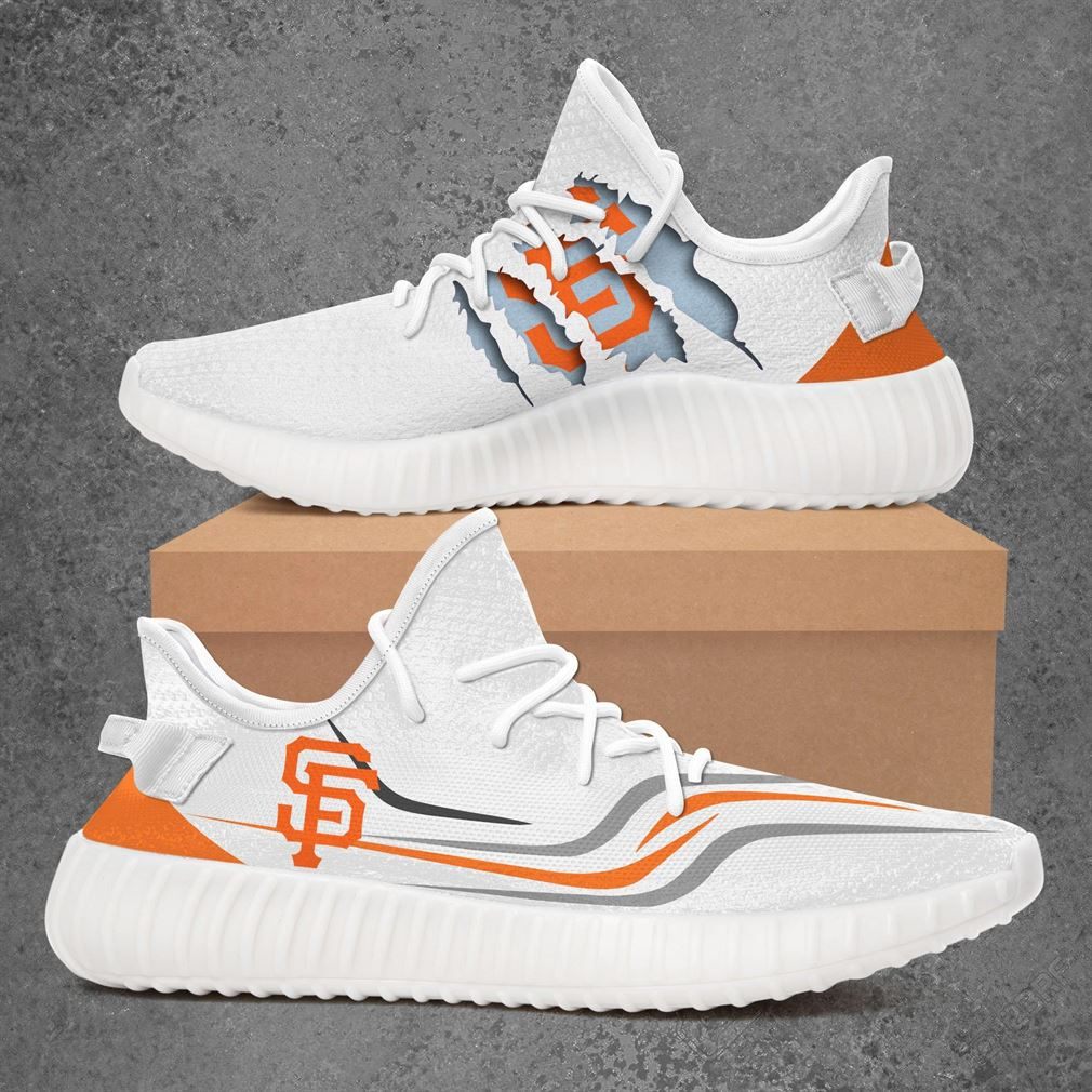 San Francisco Giants Mlb Sport Teams Yeezy Sneakers Shoes White