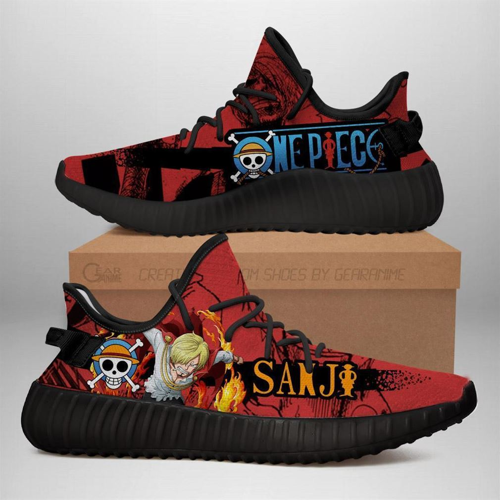 Sanji Yz Sneakers One Piece Anime Shoes Yeezy Sneakers Shoes Black