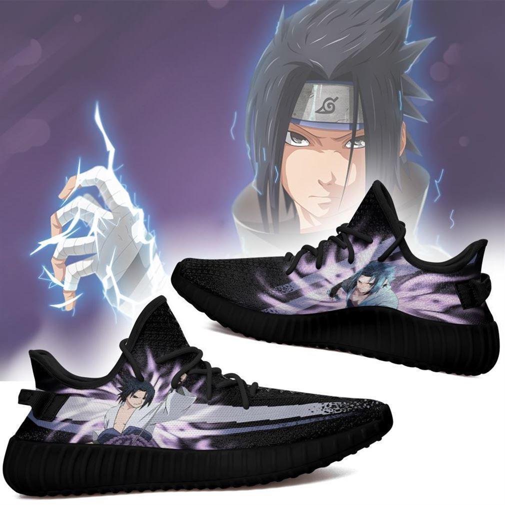 Sasuke Jutsu Yz Sneakers Naruto Anime Shoes Yeezy Sneakers Shoes Black