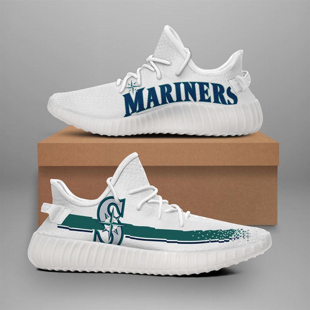 Seattle Mariners Mlb Teams Runing Yeezy Sneakers Shoes